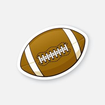 Vector illustration leather american football ball sports equipment cartoon sticker
