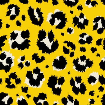 Vector illustration leopard print seamless pattern