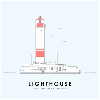 Vector illustration: lighthouse