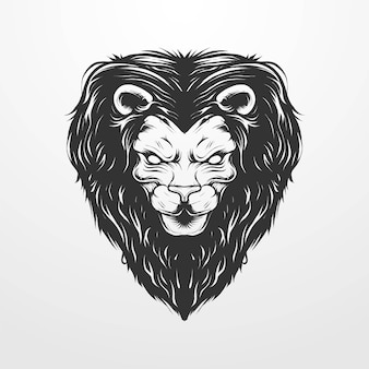Vector illustration of a lion's head with circle ornament in vintage classic, vintage style. suitable for t-shirts, prints, logos and other apparel products