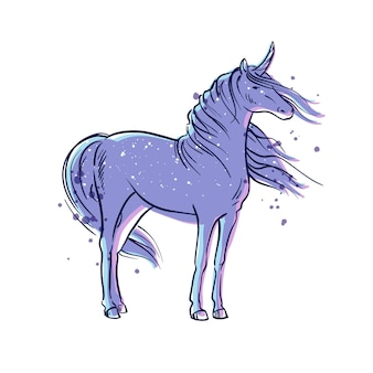 Vector illustration of a magic unicorn
