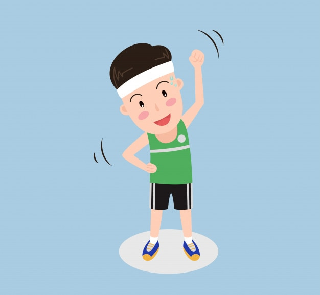 Vector illustration a man exercise