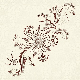 b7ddf3579 Vector illustration of mehndi ornament. traditional indian style,  ornamental floral elements for henna tattoo