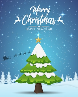 Vector illustration of merry christmas typography