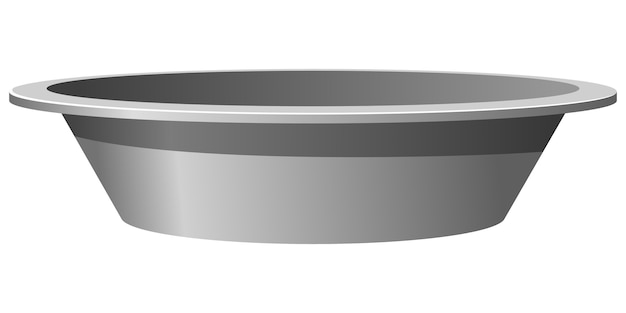Vector illustration of a metal basin