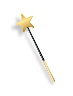 Vector illustration of miracle magical stick with sparkle isolated on transparent background magic w...