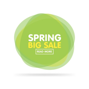 Vector illustration of modern transparent colorful green labels for greetings and promotion. spring big sale