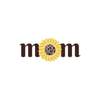 Векторная иллюстрация мама с подсолнухом, изолированные на белом фоне