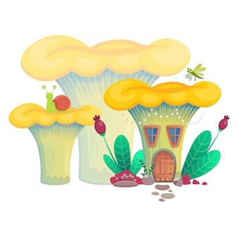 벡터 일러스트 레이 션 버섯 집입니다.