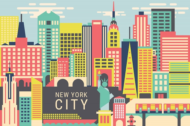 Vector illustration new york city