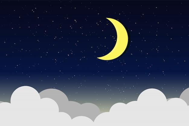 Vector illustration of night sky
