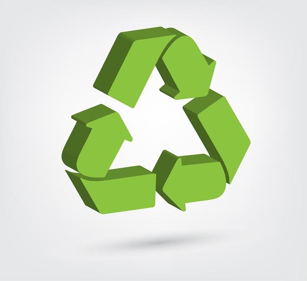 3dリサイクルシンボルのベクトル図