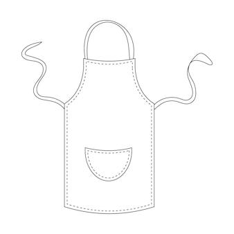 黒いキッチンエプロンのベクトル図
