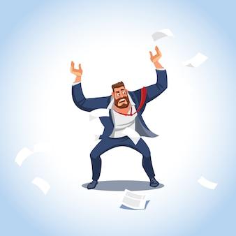 Векторная иллюстрация босса в состоянии стресса