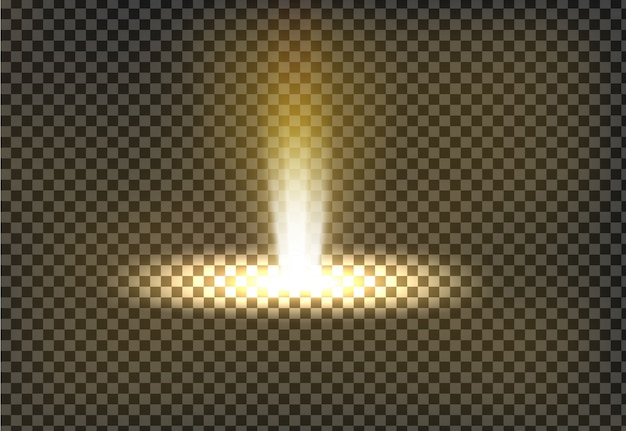 Векторная иллюстрация золотой луч света, луч света
