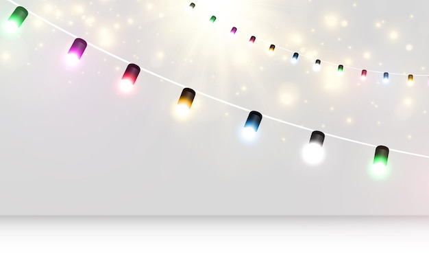 透明な背景に明るい花輪のベクトルイラスト