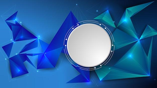 색 삼각형이 있는 낮은 폴리, 다각형 3d 디자인의 벡터 그림. eps 10