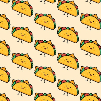 マスコットサンドイッチパターンのベクトルイラスト非常にかわいいeps10