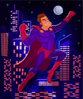 Vector illustration of a superman