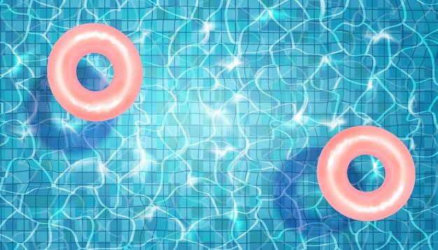 水とフローティングサークルとスイミングプールのベクトル図