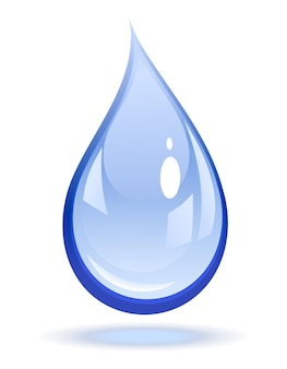 水滴のベクトル図