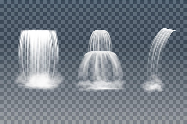 滝のベクトル図