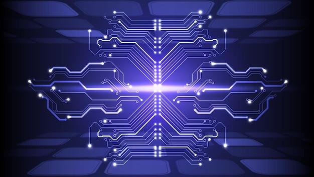 추상 전기 보드, 회로의 벡터 일러스트 레이 션. 추상 과학, 미래, 웹, 네트워크 개념. eps 10