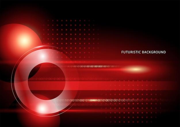 미래 배경에 대한 빨간색과 검은색 색상의 추상 이미지의 벡터 일러스트 레이 션