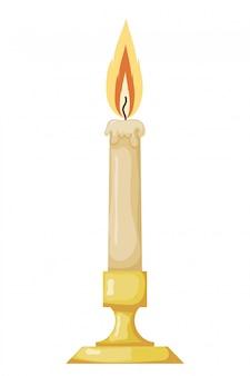 Векторная иллюстрация абстрактной старинной восковой свечи