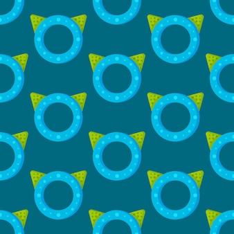 아기 니블 패턴의 벡터 일러스트 레이 션. 아기 장난감의 완벽 한 그림입니다. 재미있고, 교육적이며, 유용하고, 깨끗합니다.