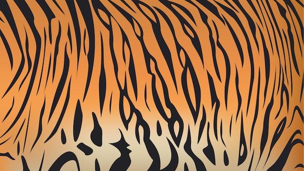 ベンガルのタイガーストライプパターンのベクトル図
