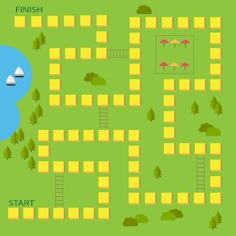 子供のためのボードゲームのベクトルイラスト