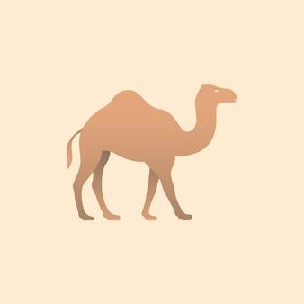 Векторная иллюстрация коричневый верблюд