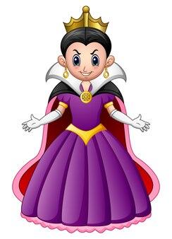 漫画の悪女王のベクトル図
