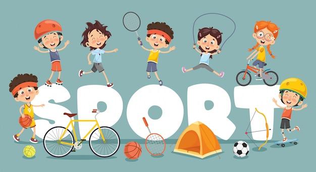 Векторная иллюстрация детского спорта