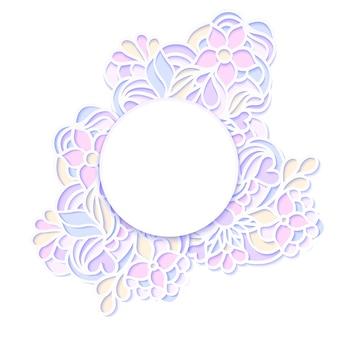Векторная иллюстрация красочной цветочной рамкой Premium векторы