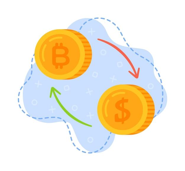 外貨両替のベクターイラスト外貨換算