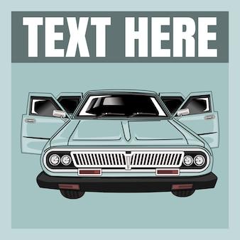 Векторная иллюстрация плоский дизайн вид спереди автомобиля