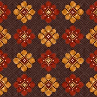 民俗のシームレスなパターン飾りのベクトルイラスト。民族飾り
