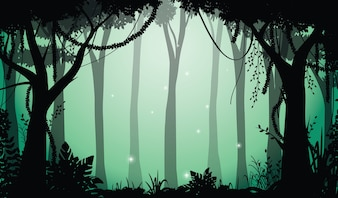 Vector Illustration of Forest Silhouette