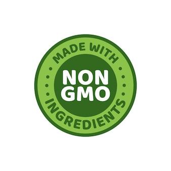 緑の色のgmo無料エンブレムのベクトルイラスト。