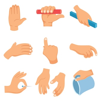 Vector Illustration Of Hand Gestures