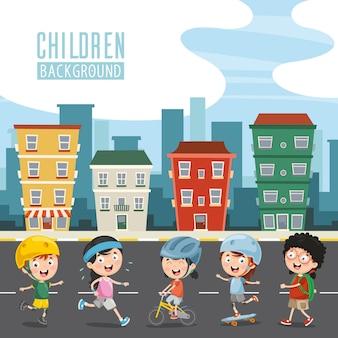 Векторная иллюстрация счастливых детей
