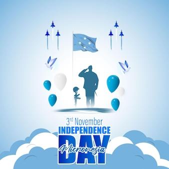 幸せなミクロネシア独立記念日のベクトルイラスト