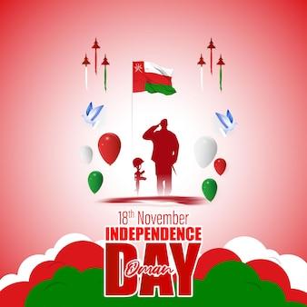 Векторная иллюстрация счастливого дня независимости омана