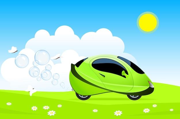 Векторная иллюстрация концепции водородного автомобиля