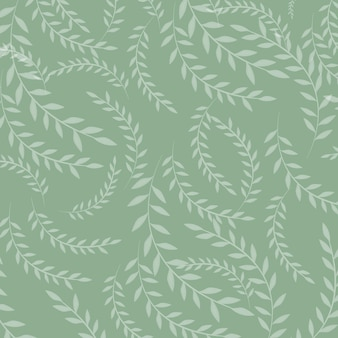 葉のシームレスなパターンのベクトルイラスト。花の有機的な背景。手描きの葉のテクスチャ。