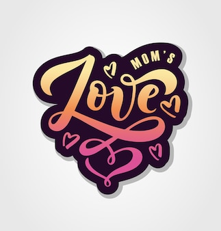 Векторная иллюстрация текста любви для мальчиков девочек одежды значок тега значок любви вдохновляющие цитаты