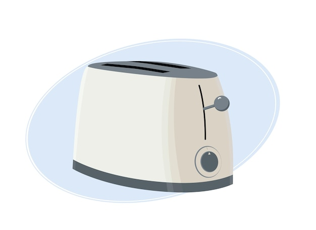 ベージュ色のモダンでスタイリッシュなトースターのベクトルイラスト