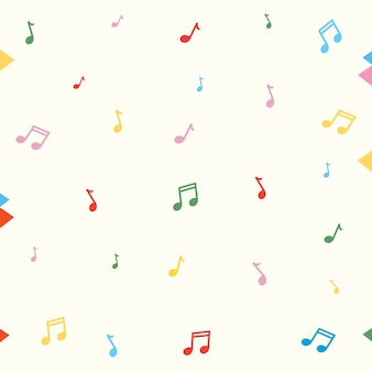 Vector Illustration Of Music Notes Background